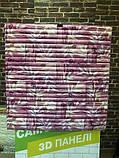 Самоклеюча декоративна 3D панель Бамбукова кладка рожевий 700x700x8.5мм, фото 3