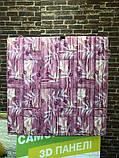 Самоклеюча декоративна 3D панель Бамбукова кладка рожевий 700x700x8.5мм, фото 4