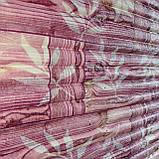 Самоклеюча декоративна 3D панель Бамбукова кладка рожевий 700x700x8.5мм, фото 2