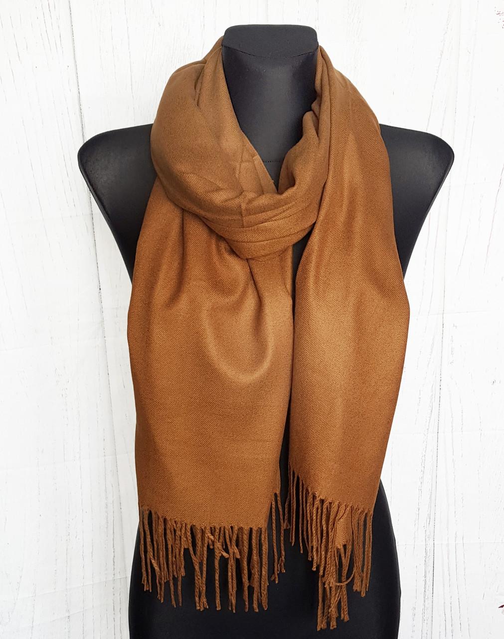 Палантин шарф женский однотонный Мари
