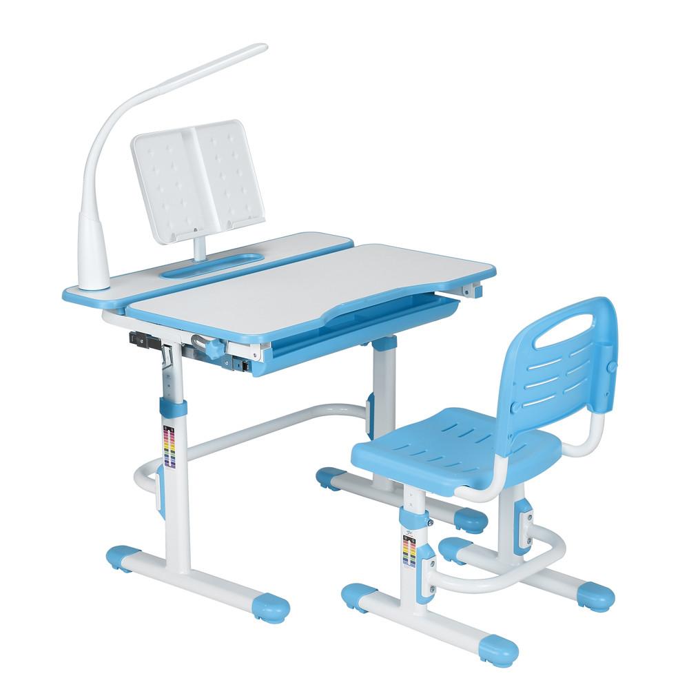 Эргономический комплект Cubby парта и стул-трансформеры Botero Blue