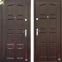 Двері металеві Zimen Модель 112 Темний Горіх для квартири, для офісу