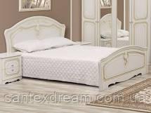 Кровать Луиза (белое дерево- патина)
