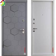 Двері металеві Zimen Monaco Мусонна Дерево/Білий Спіл для квартири, для офісу