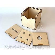 Деревянная игра Развивающий кубик Познавалка 4407100 Poznavalka
