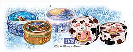 Подарочная коробка новогодний тубус  21-Т9 * 3