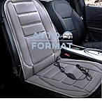 Накидка  на сиденье с подогревом  черная низкая 12В ДК, фото 2