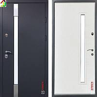Двері металеві Zimen Rio Vinorit Антрацит Пісок/Біле Дерево для квартири, для офісу, для вулиці