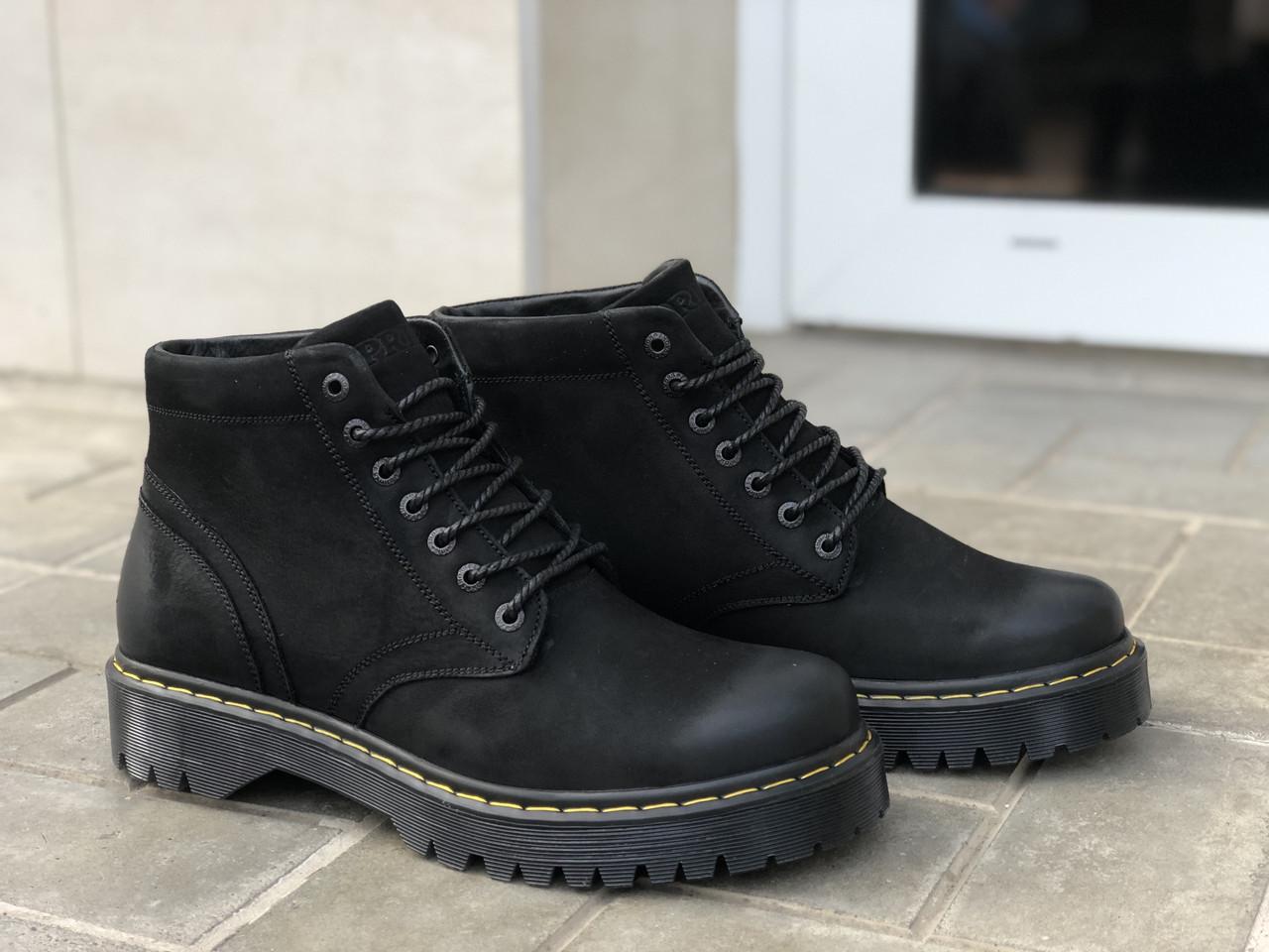 Зимние ботинки мужские Prime 70114 нуб размеры 40,41,42,43,44