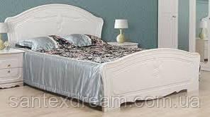 Кровать Луиза двуспальная (белое золото)