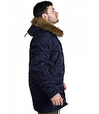 Куртка Зимова Аляска Slim Fit N-3B Navy, фото 2