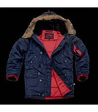 Куртка Зимова Аляска Slim Fit N-3B Navy, фото 3