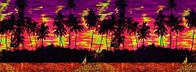 """3Д светящиеся обои """"Пальмовый берег"""" 135/360см."""