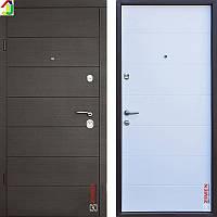 Двері металеві Zimen Gorizontal Венге Горизонт Темний/Венге Горизонт Ваніль для квартири, для офісу