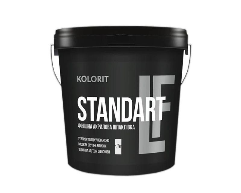 Шпатлевка акриловая KOLORIT STANDART LF финишная 1,7кг