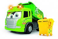 Мусоровоз Dickie Toys Хэппи Скания с контейнером со световыми и звуковыми эффектами 25 см (3814015), фото 1