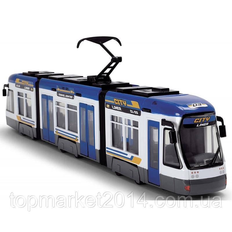 Трамвай Dickie Toys Сити Лайнер 46 см синий  (3749017)