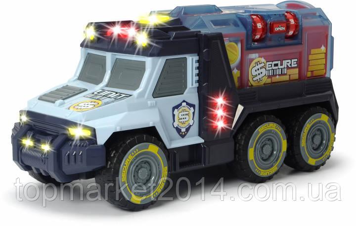 """Автомобиль Dickie Toys """"Инкассатор"""" с кодовым замком, со звуком и световыми эффектами 35 см (3756005)"""