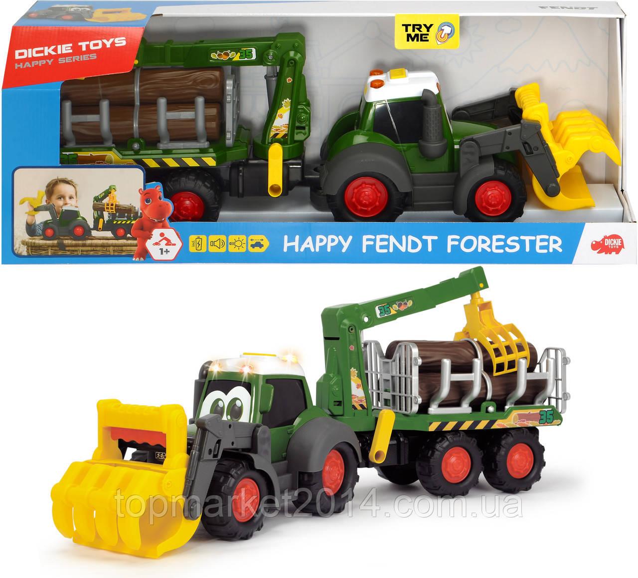 """Трактор лесника Dickie Toys """"Хэппи. Фендт"""" с краном со звуком и световыми эффектами 65 см (3819003)"""