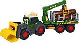 """Трактор лесника Dickie Toys """"Хэппи. Фендт"""" с краном со звуком и световыми эффектами 65 см (3819003), фото 2"""