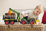 """Трактор лесника Dickie Toys """"Хэппи. Фендт"""" с краном со звуком и световыми эффектами 65 см (3819003), фото 7"""
