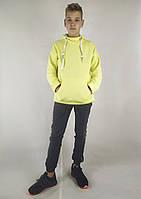 Мужская кофта-толстовка на флисе с капюшоном и карманами XL, XXL, 3XL, фото 1