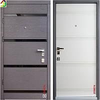 Двері металеві Zimen Studio Дуб Графіт Горизонт/Дуб Пломбір Горизонт для квартири, для офісу
