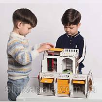 Двоповерховий дитячий гараж-стоянка NestWood жовтий