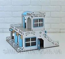 Дитячий двоповерховий гараж-стоянка ( синій) NestWood