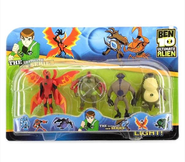 Оригинальный набор Бен 10 супергерои, фигурки-голограммы, часы Омнитрикс - Ben 10, Superhero, Omnitrix, Bandai