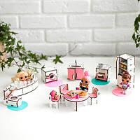 """Набор кукольной мебели NestWood для LOL """"Кухня+ванная"""" , розовый, фото 1"""