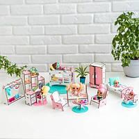 """Набор кукольной мебели для LOL """"Спальня+гостиная+детская"""", (розовый) NestWood"""