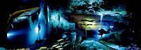 """3Д светящиеся обои """"Подводная пещера"""" 135/349см."""