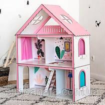 Кукольный домик  стандарт (без мебели, розовый) NestWood