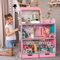"""Кукольный домик для Барби NestWood """"Люкс""""(без мебели, розовый)"""