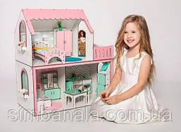 """Кукольный домик для Барби, NestWood """"Люкс мини""""(розовый, без мебели)"""
