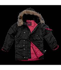 Куртка Зимова  Аляска Slim Fit N-3B Black, фото 3