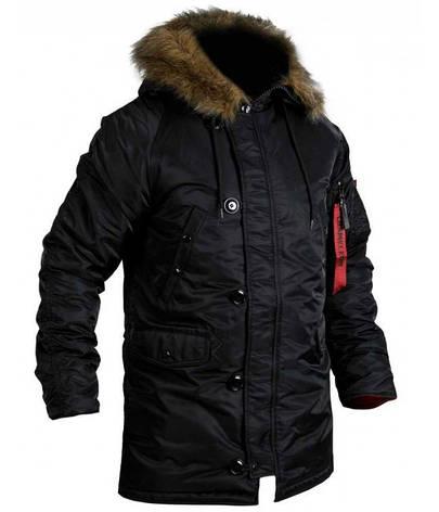 Куртка Зимова  Аляска Slim Fit N-3B Black, фото 2