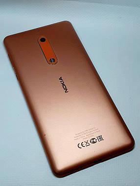 Задняя крышка корпуса с компонентами Nokia 5 Dual Sim TА-1053 медная , оригинал б.у., фото 2