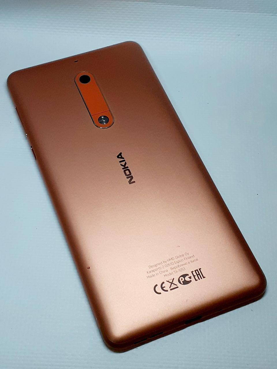 Задняя крышка корпуса с компонентами Nokia 5 Dual Sim TА-1053 медная , оригинал б.у.
