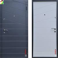 Двері металеві Zimen Line Антрацит/Біла Шагрень для квартири, для офісу