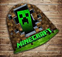 Шапка с 3D принтом Minecraft Logo Все размеры, все сезоны.