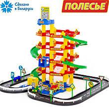 Ігровий набір Полісся паркінг 5-рівневий з дорогою і автомобілями (38104)