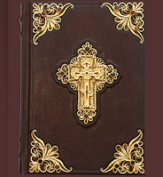 """Книга кожаная """"Библия с индексами"""" (23*16*4), фото 1"""