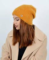 Очень удобная вязаная двойная шапка , сделана из ангоровой Турецкой пряжи