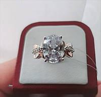 """Серебряное кольцо с золотыми вставками""""Вулкан"""", фото 1"""