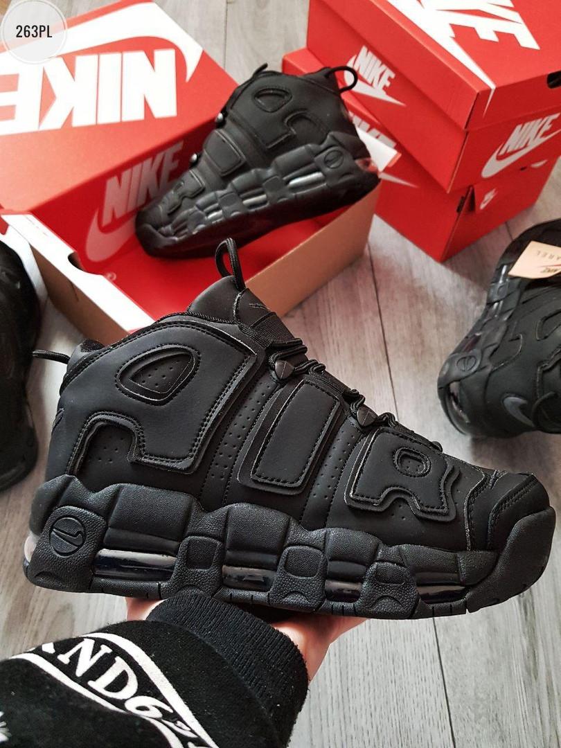 """Зимние кроссовки на меху Nike Air Max Uptеmp BLACK Matt Winter """"Черные"""""""