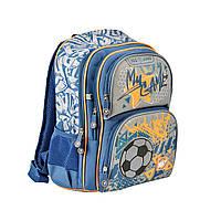 """Рюкзак школьный YES S-30 для мальчика 6-9 лет Juno """"Football"""""""