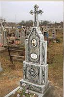 Виготовлення пам'ятників з крихти з елементами скломозаїки, фото 1
