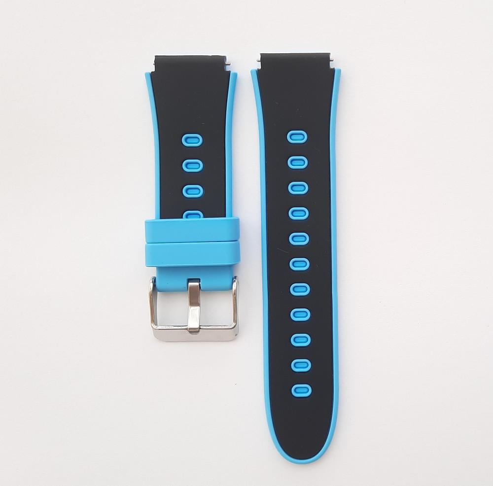 Ремінець для дитячих годин Smart baby HW11 / DF50 Чорно-блакитний